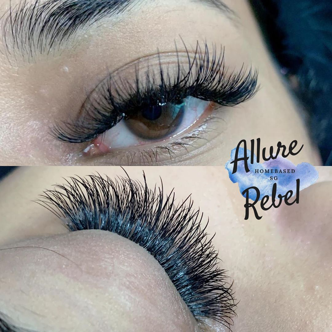Home-Based Eyelash Extensions Singapore Bedok Allure Rebel