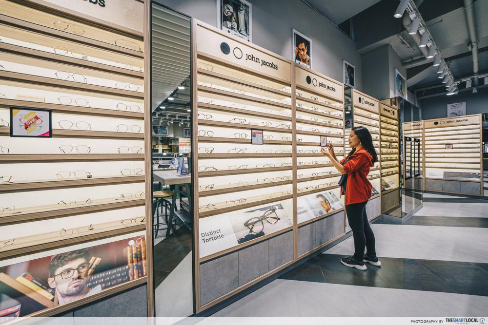 Browsing glasses at Lenskart