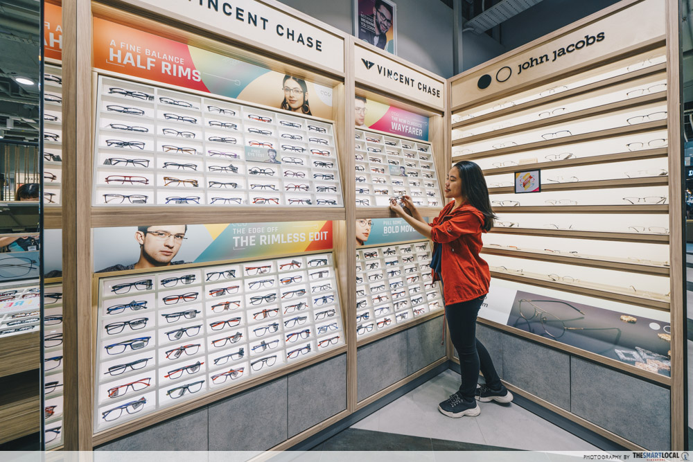 Browsing spectacles at Lenskart