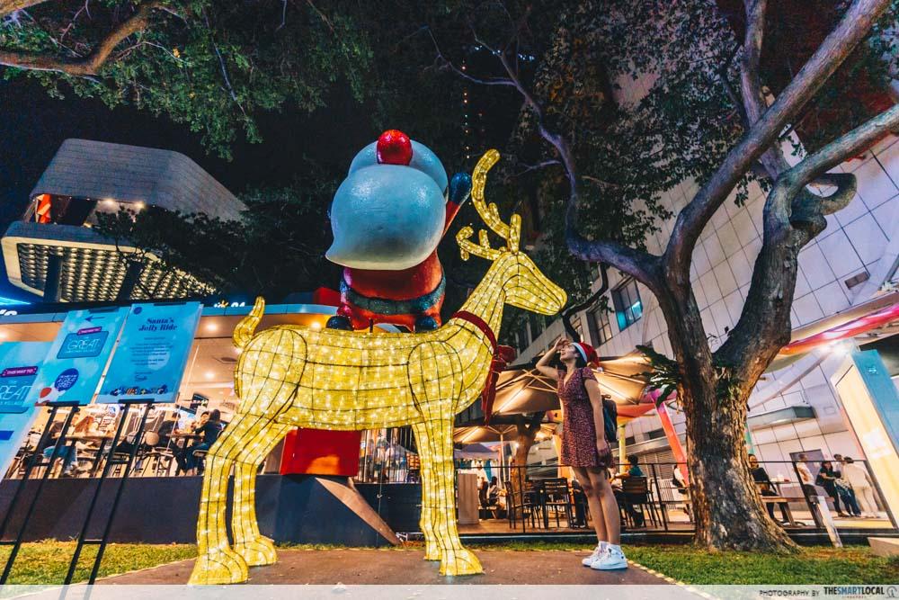 Orchard Road Christmas Village 2019 Reindeer Lights