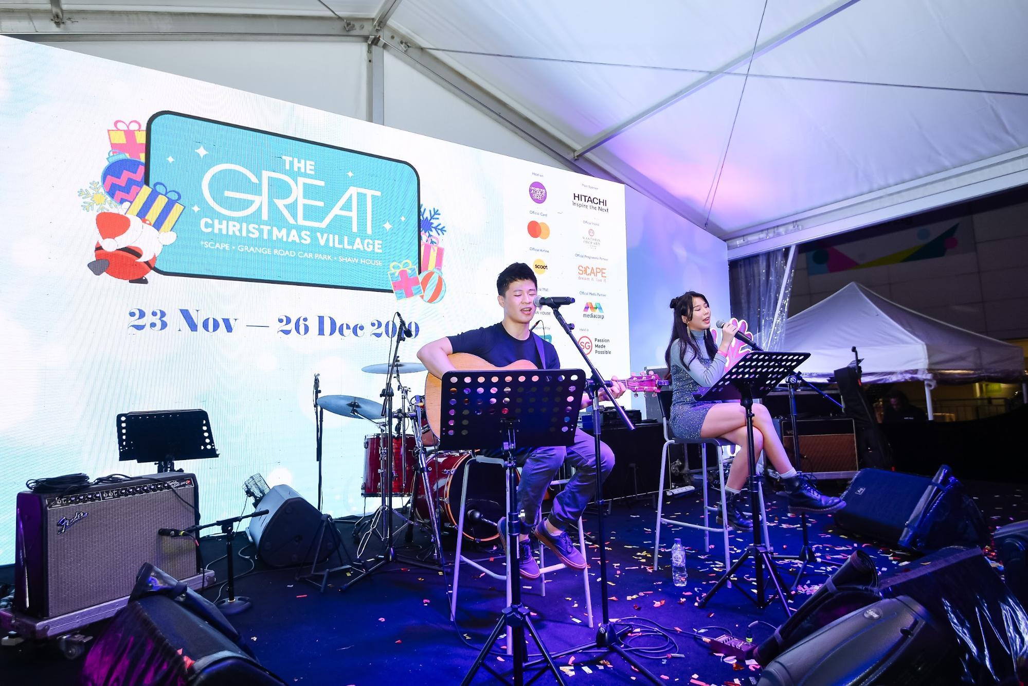 Live Music Performances Orchard Road Christmas Village 2019