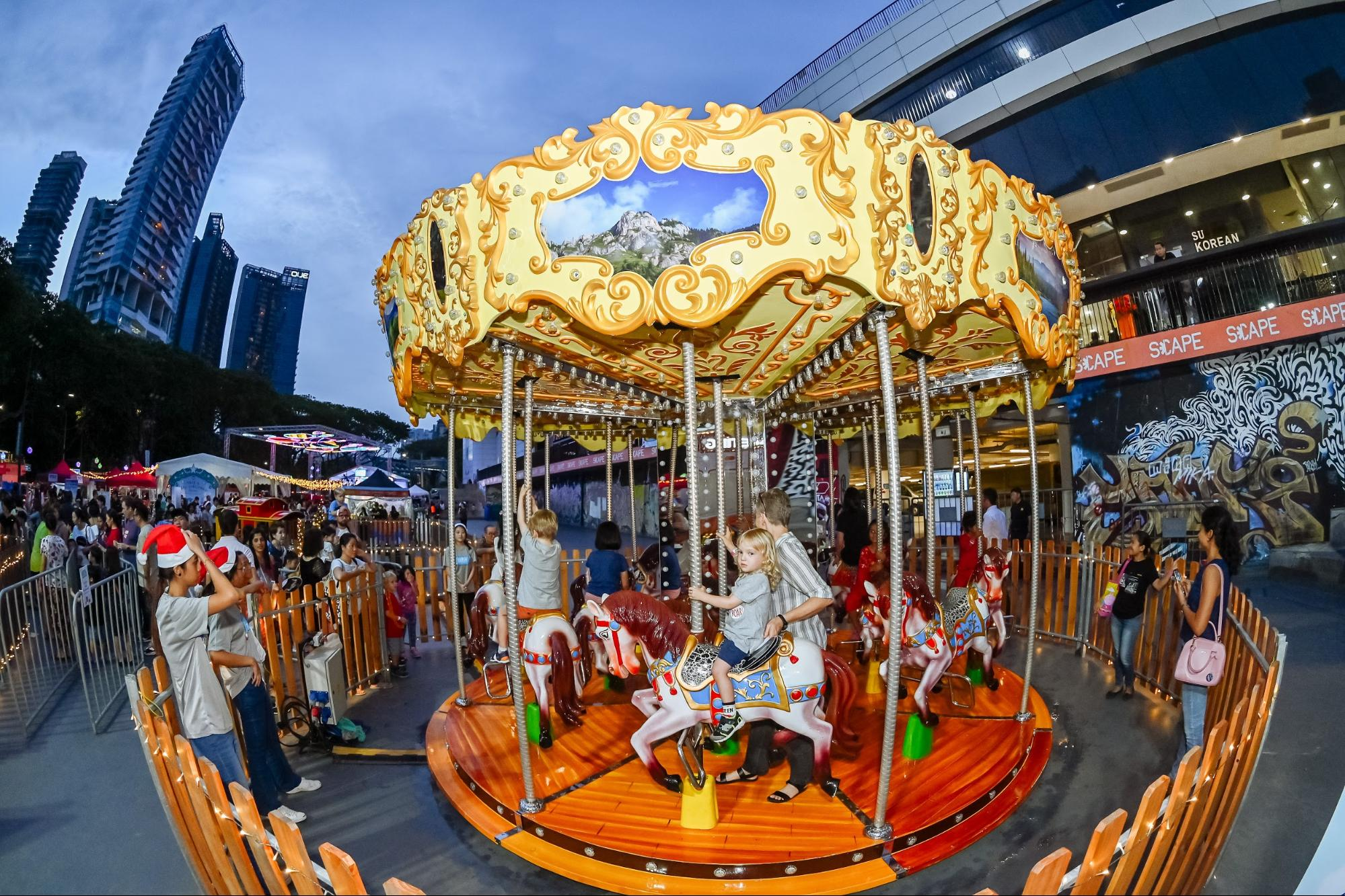 Carousel Ride Orchard Road Christmas Village 2019
