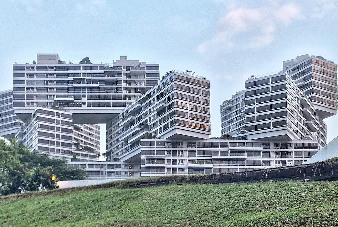feng shui in singapore architecture - the interlace
