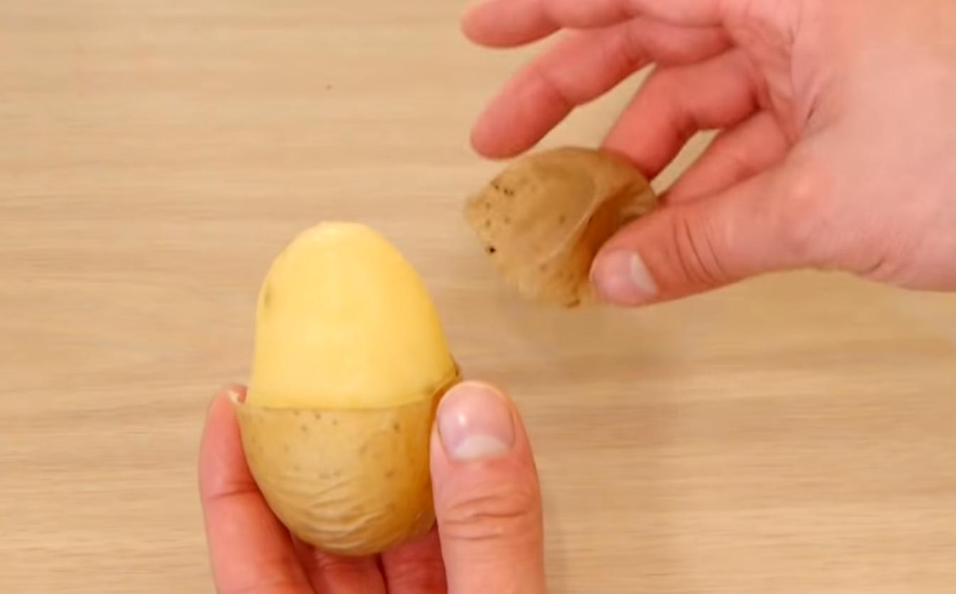 kitchen peeling hacks potato