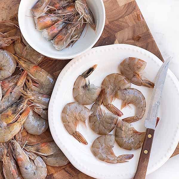 kitchen peeling hacks prawn