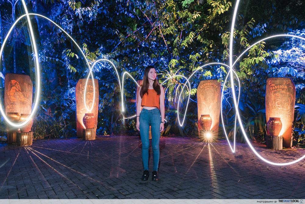 light painting at rainforest lumina
