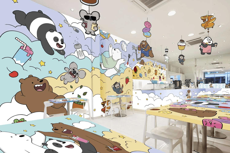 We Bare Bears Pop-Up Cafe