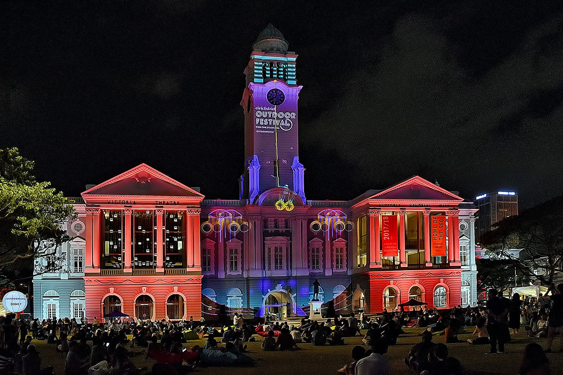 best fireworks viewing spots in singapore - victoria theatre