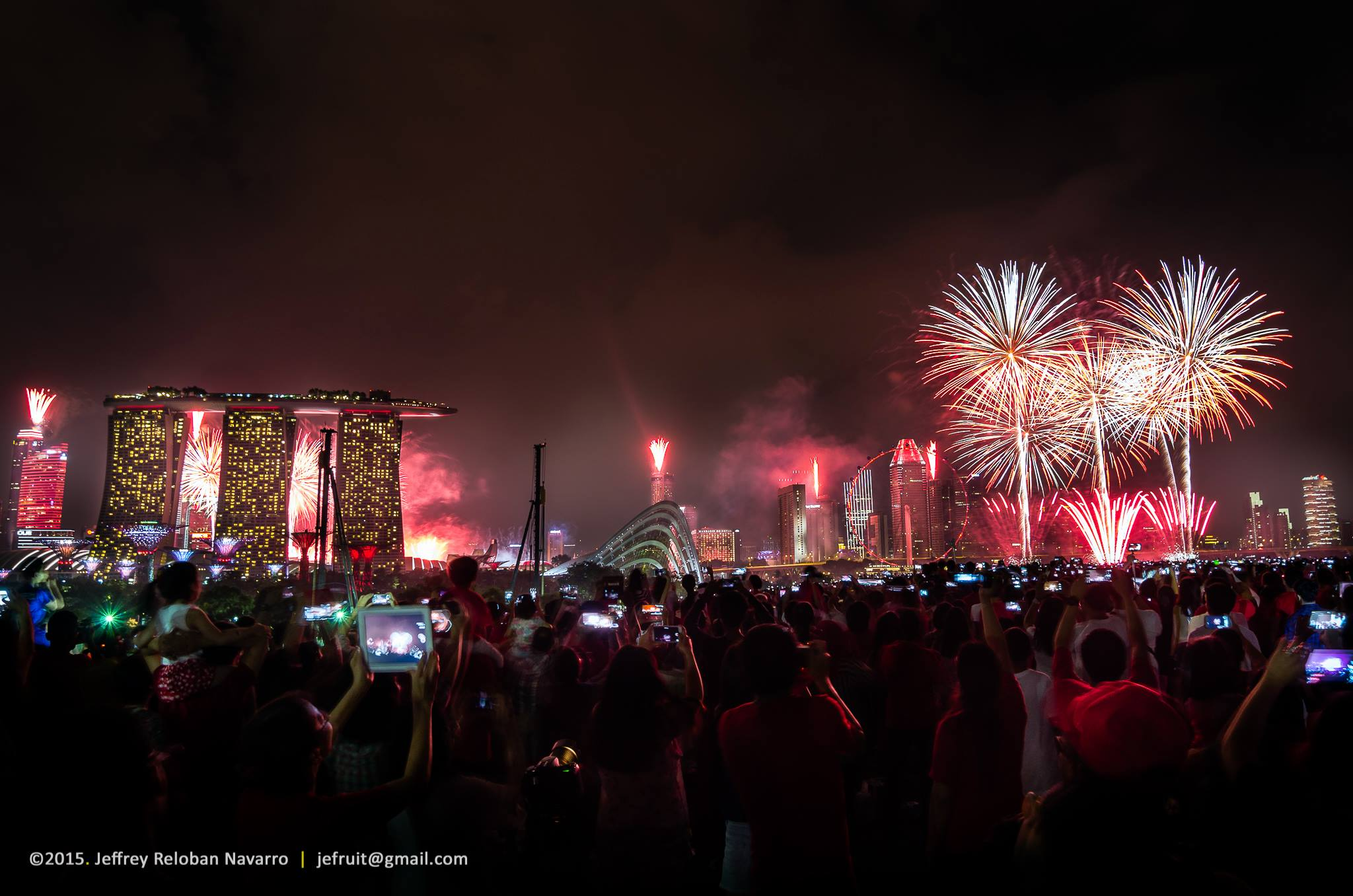 best fireworks viewing spots in singapore - marina barrage