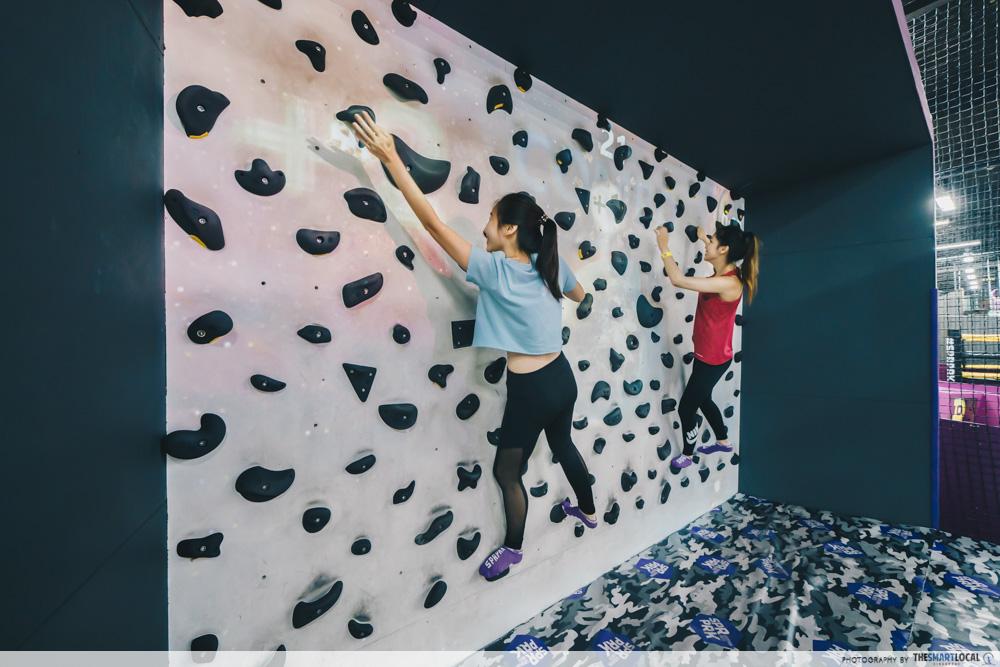 superpark singapore rock climbing wall