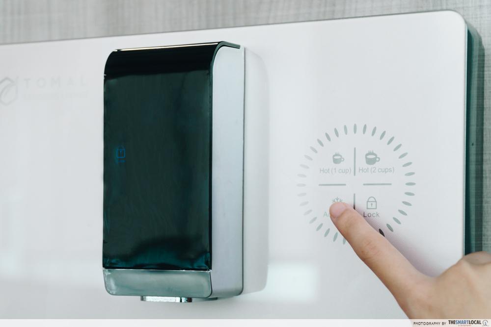 tomal freshdew water dispenser - touch panel