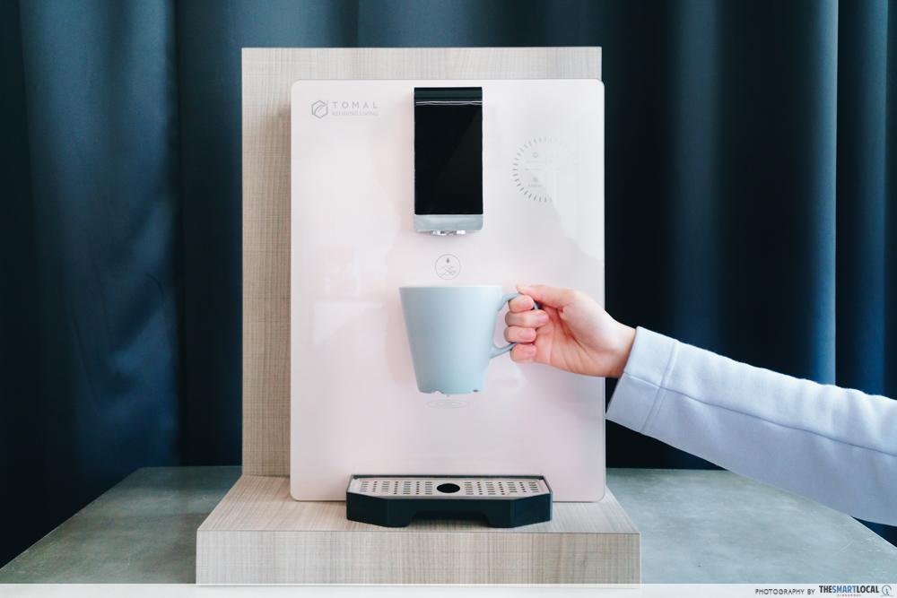tomal freshdew water dispenser - rose gold version