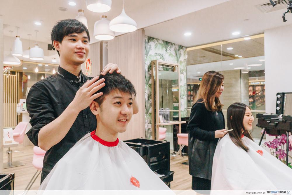 Red Team Salon haircut