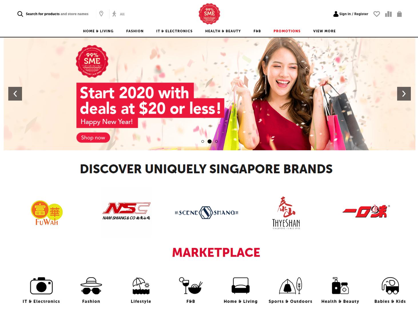 99%SME Singapore Online Marketplace Sales Discounts