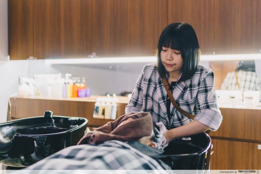 Hair Salon Tokyo Michaela Singapore Perm Treatment Washing