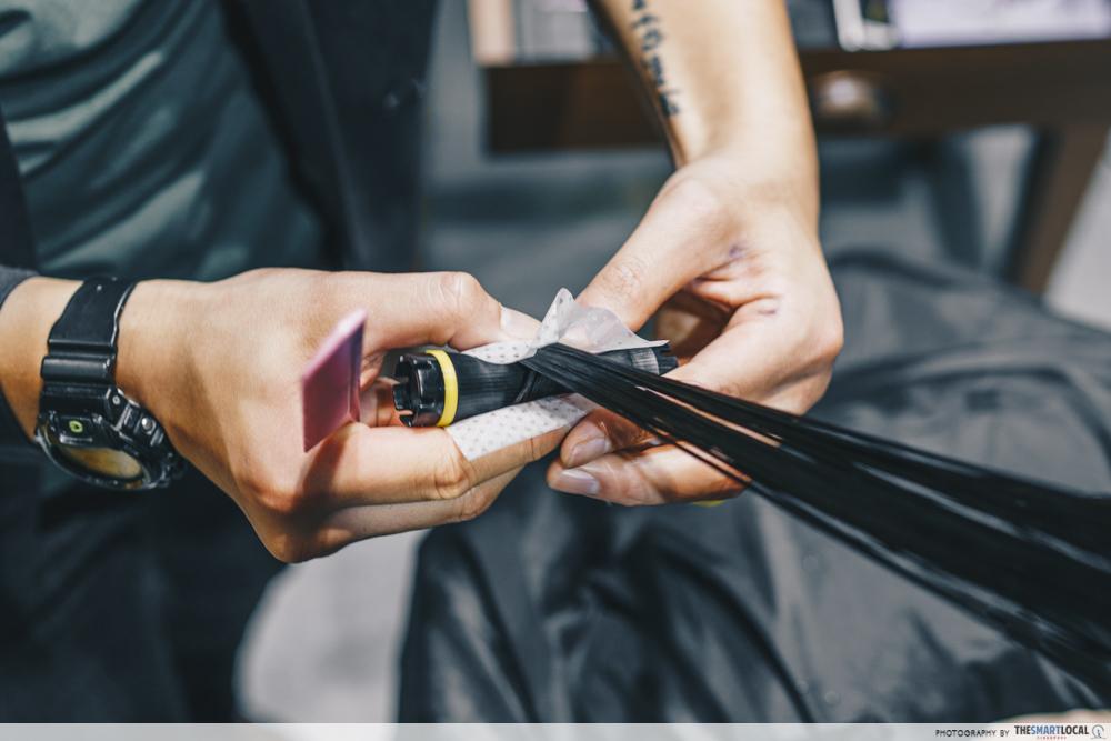 Hair Salon Tokyo Michaela Singapore Perm Treatment Heat Coil