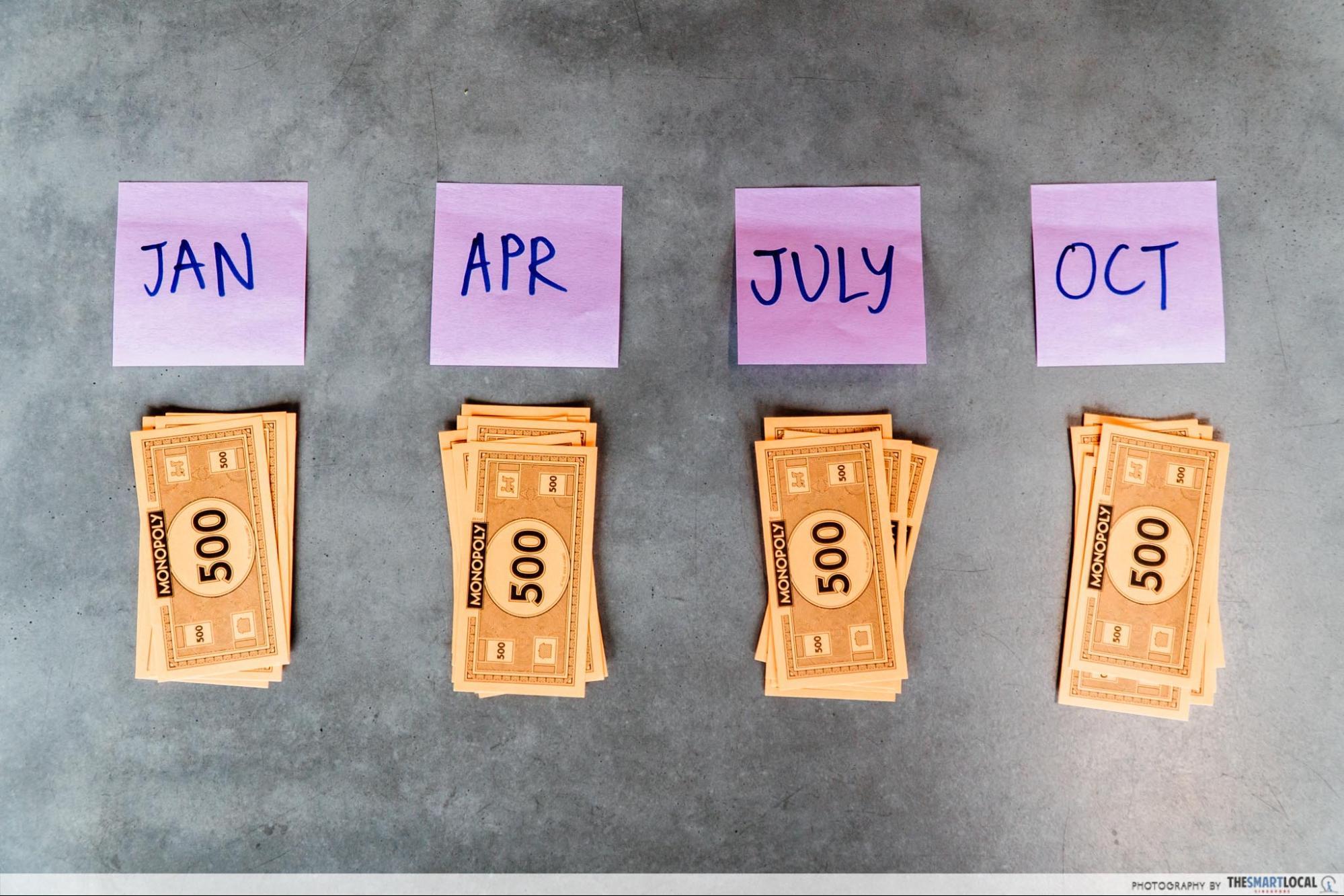 quarterly savings