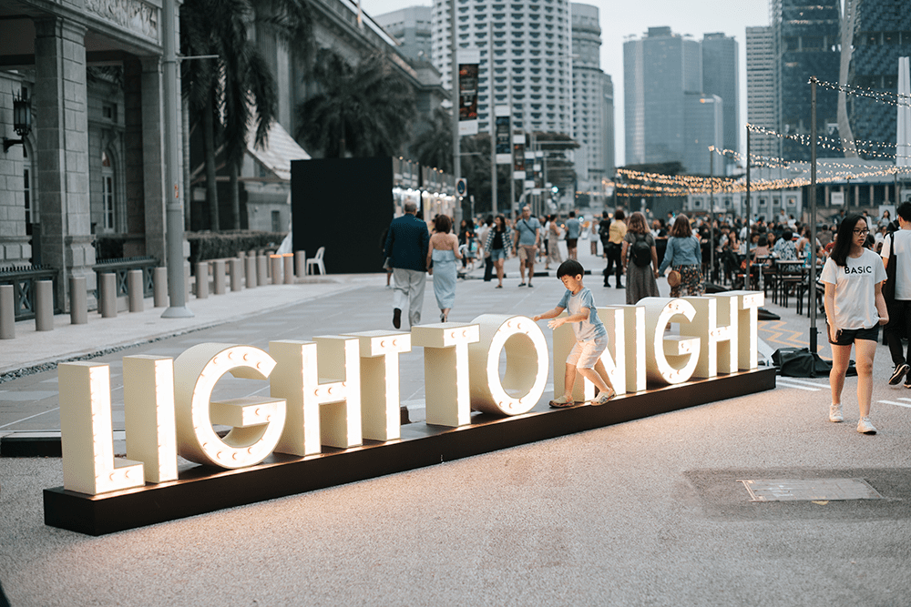 Light To Night Festival 2020 Singapore Civic District