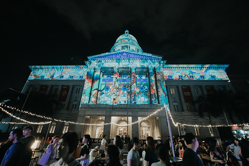 Light To Night Festival 2020 Monument Projections