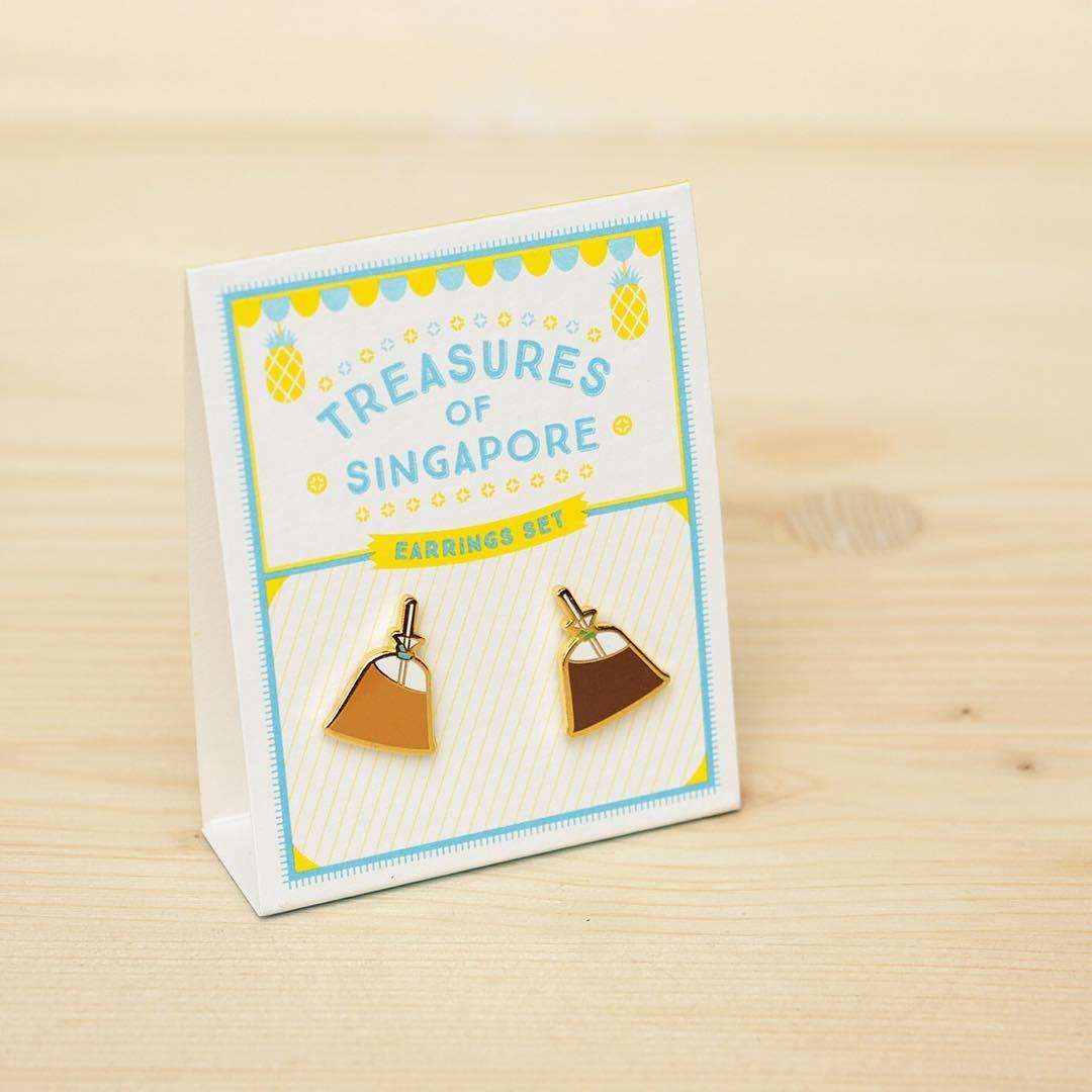 Kopitiam food-themed earrings