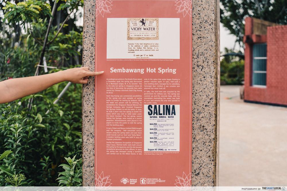Sembawang Hot Spring Park Singapore Educational Corner