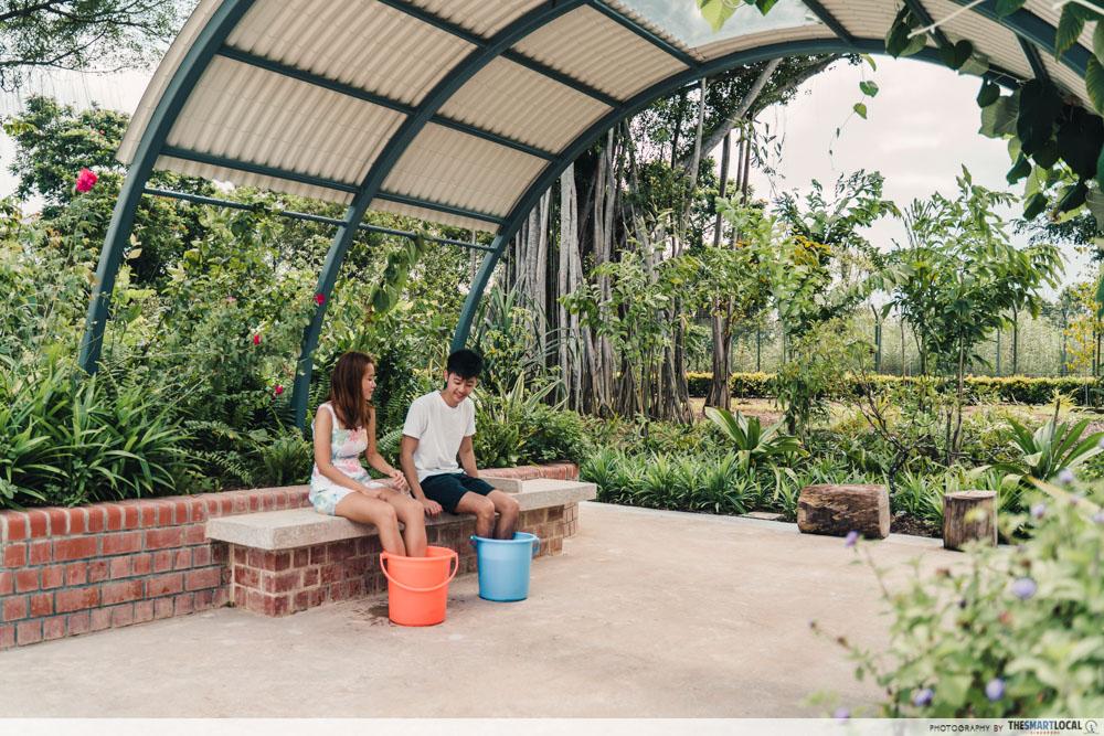 Sembawang Hot Spring Park Singapore Bucket Foot Soak