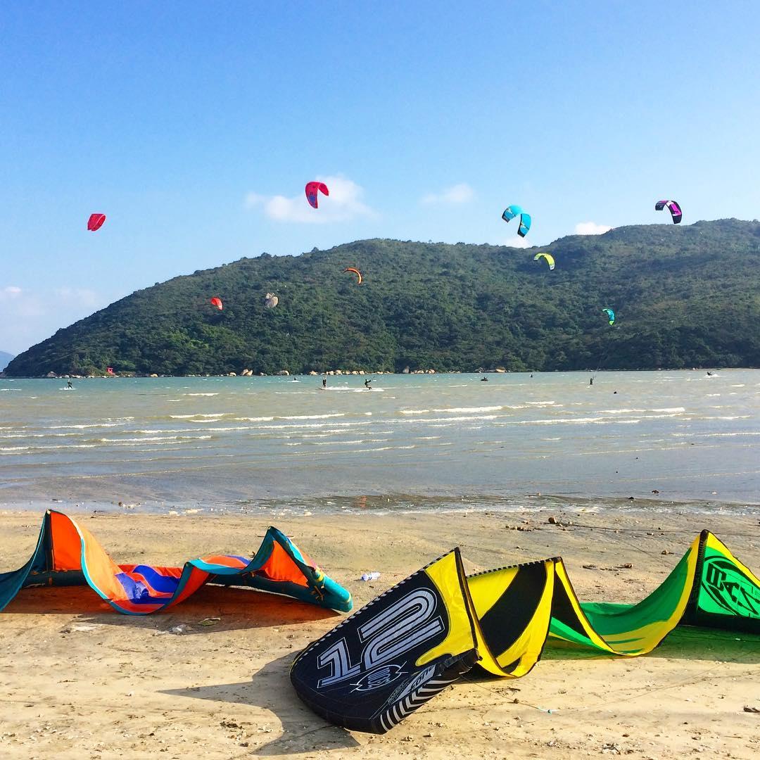 kite boarding lantau island hong kong