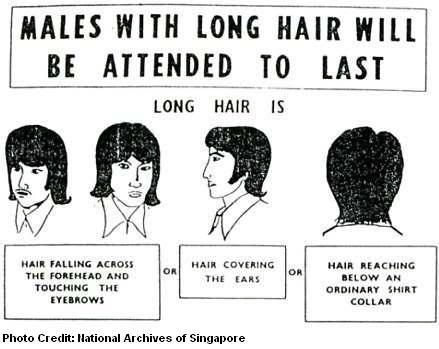 Banned long hair for guys today