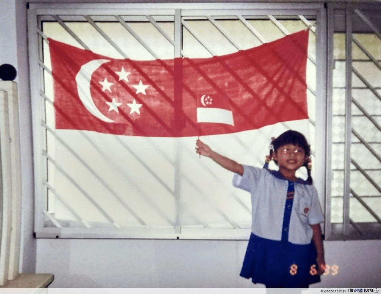 3 stars in our Singapore flag instead of 5