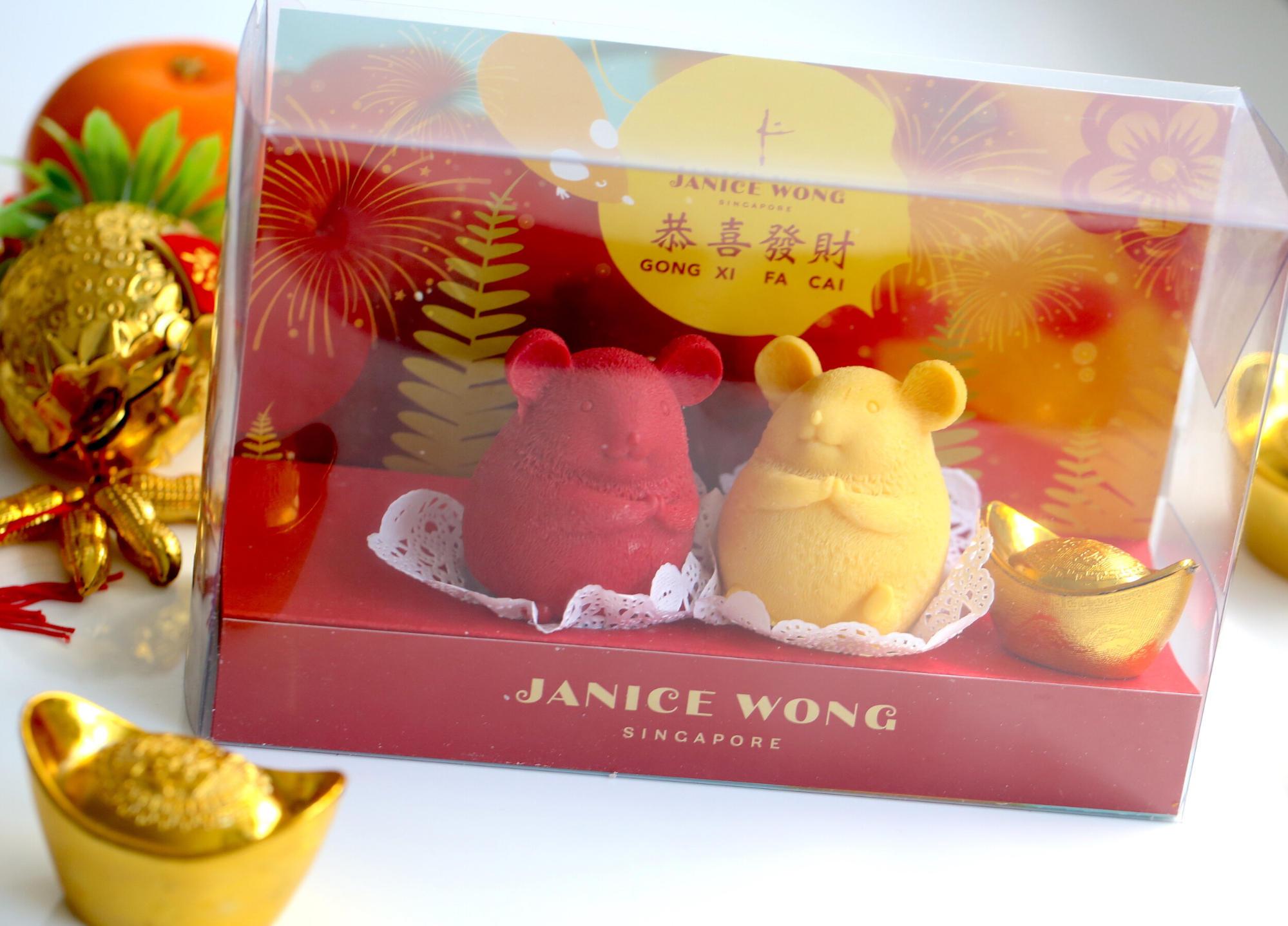 Rat chocolate Janice Wong Chinese New Year