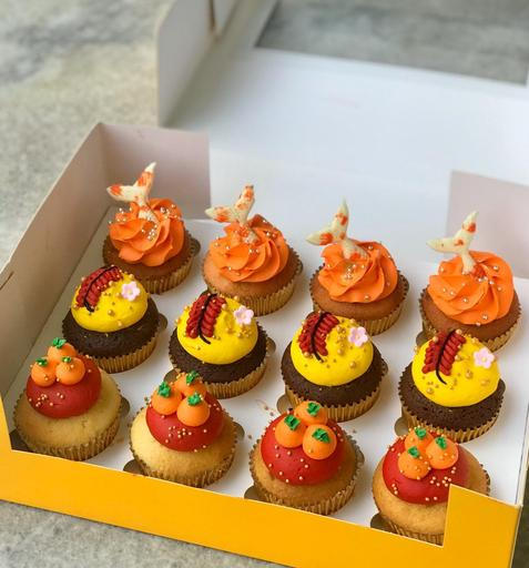 Chinese New Year cupcakes Butter Studio