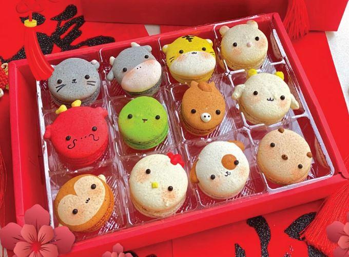 Zodiac animal macarons Chinese New Year 2020 Annabella Patisserie
