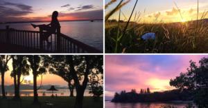 singapore sunset skies