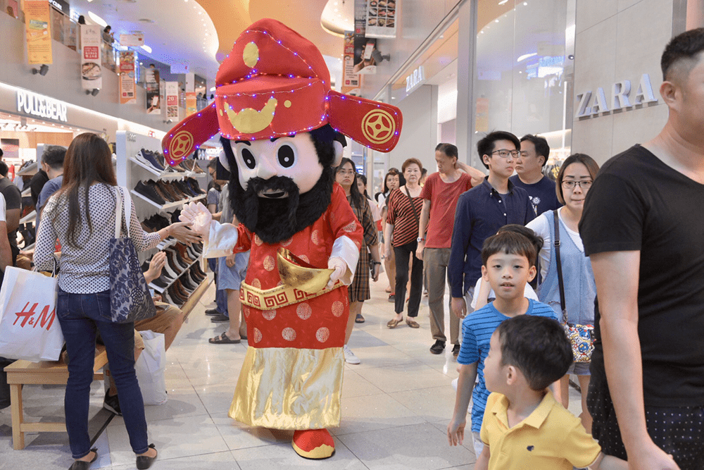 VivoCity God of Fortune Mascot Cai Shen Ye