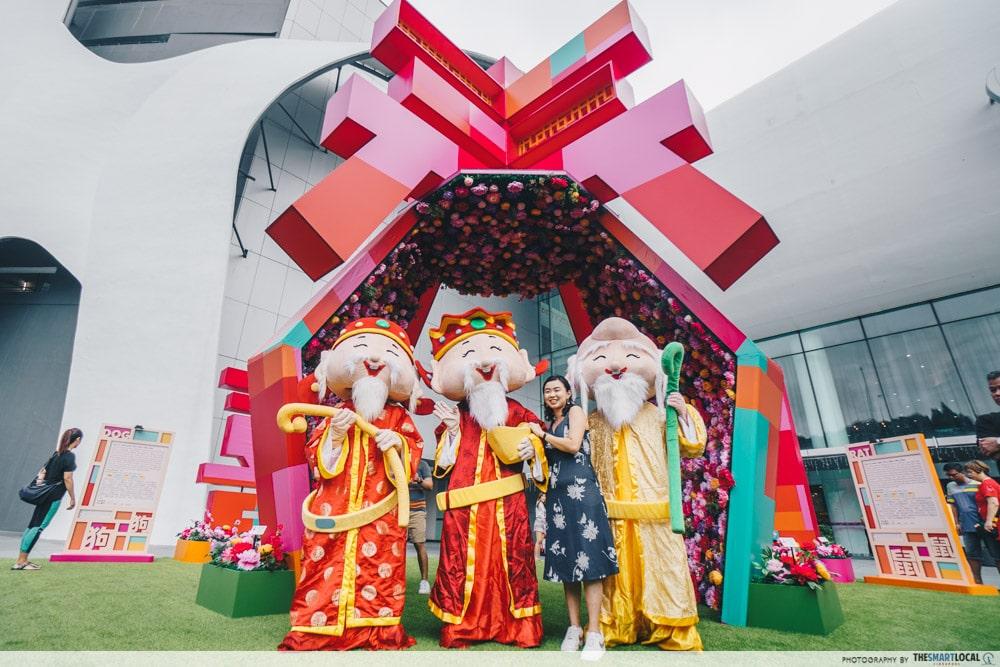 VivoCity Fu Lu Shou Mascots