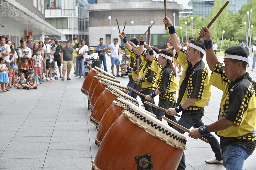 Wushu Drum Performance VivoCity