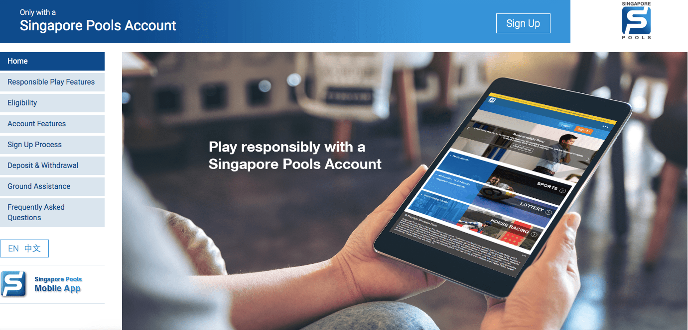 Singapore Pools Account Betting Service