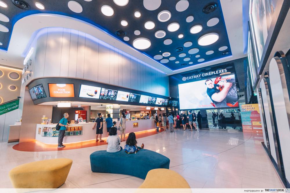 cathay cineplex amk hub - revamped cinema lobby