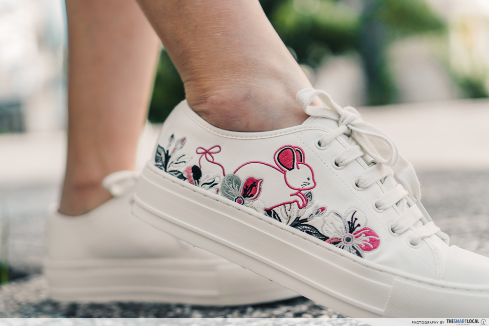 charles & keith cny collection - embroidered sneakers