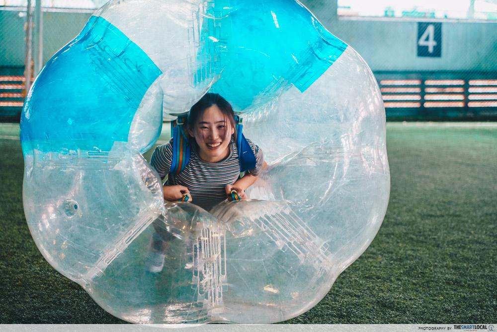 bubble soccer suit