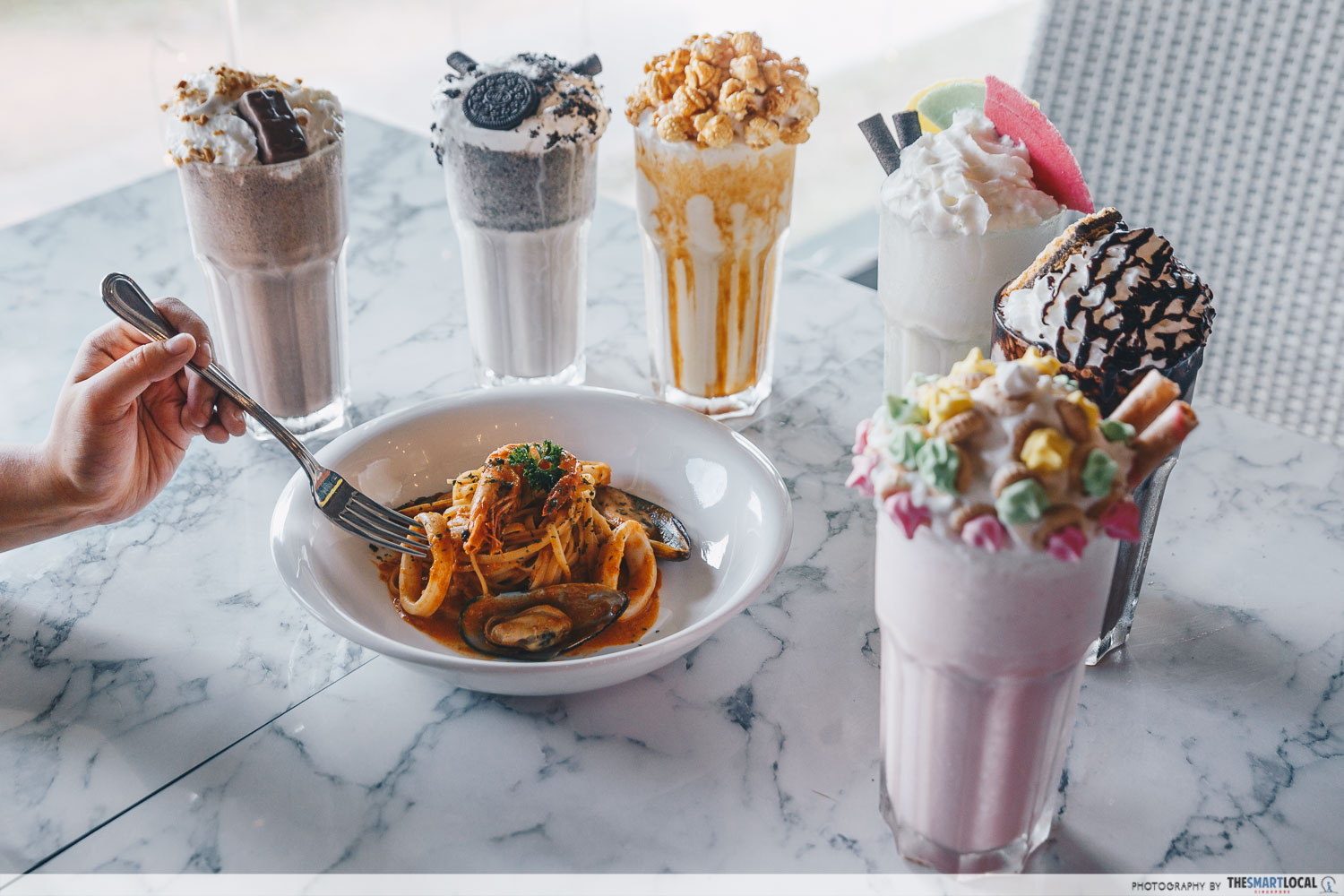 halal cafes north singapore milkshake