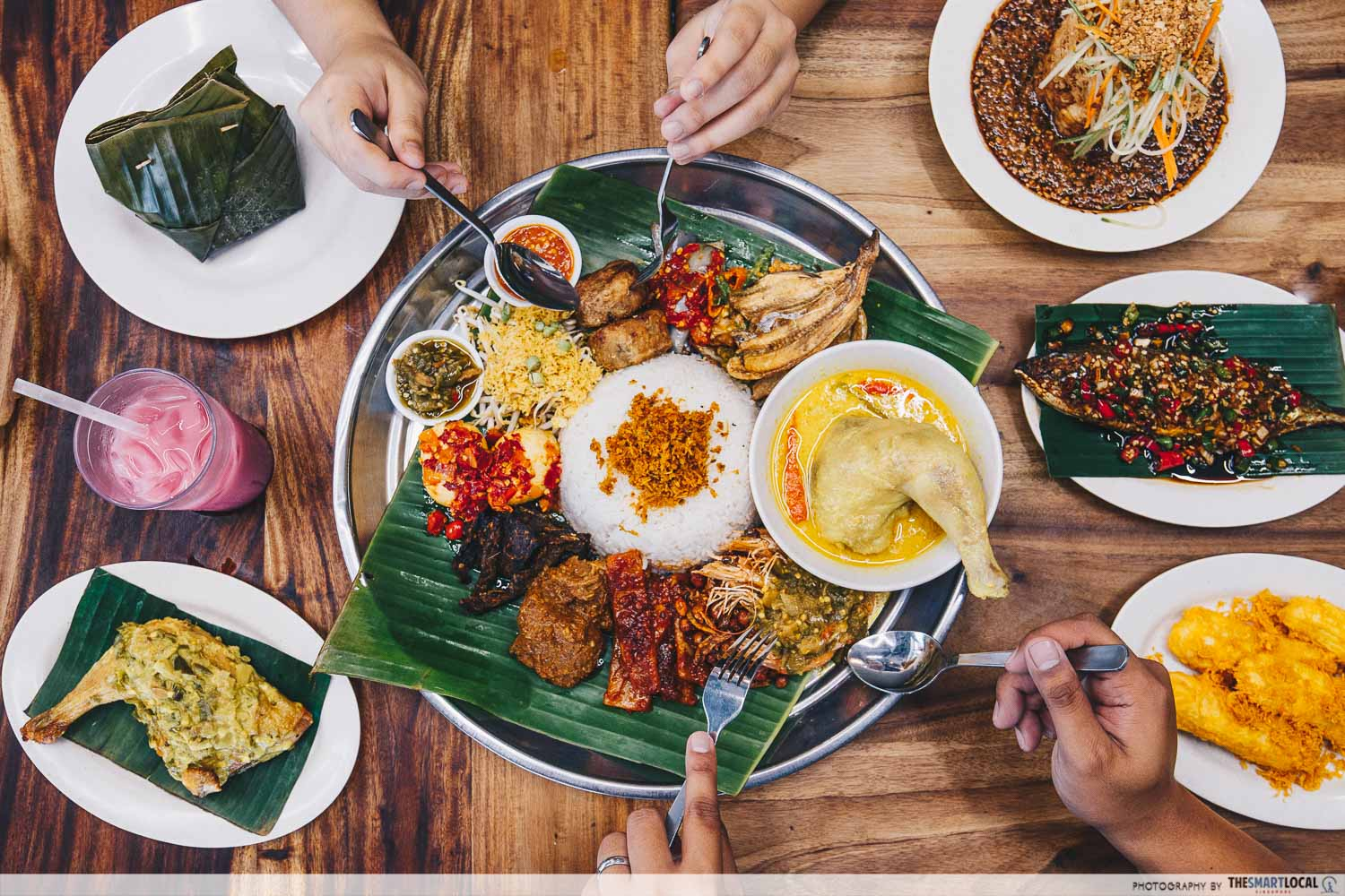 halal cafes north singapore nasi ambeng