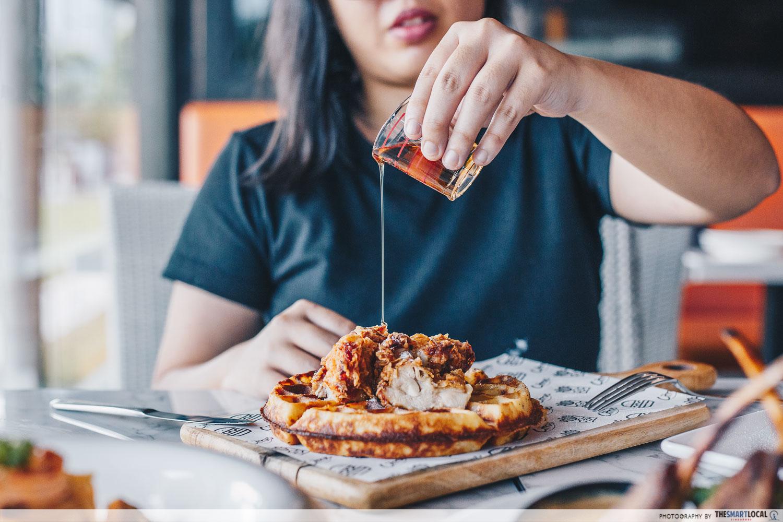 halal cafes north singapore waffle