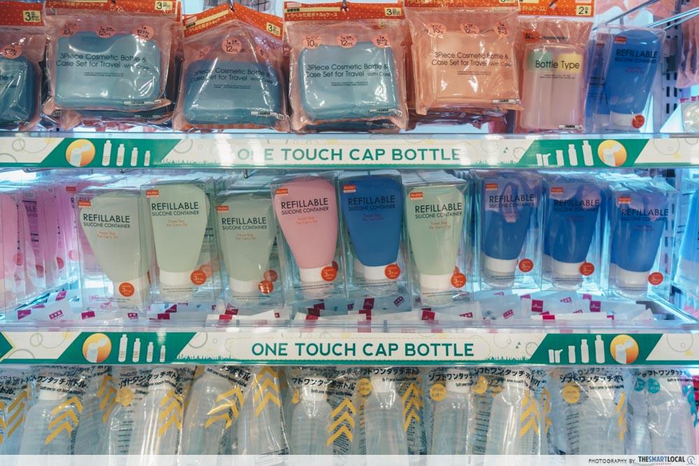 Travel-sized bottles Daiso Singapore