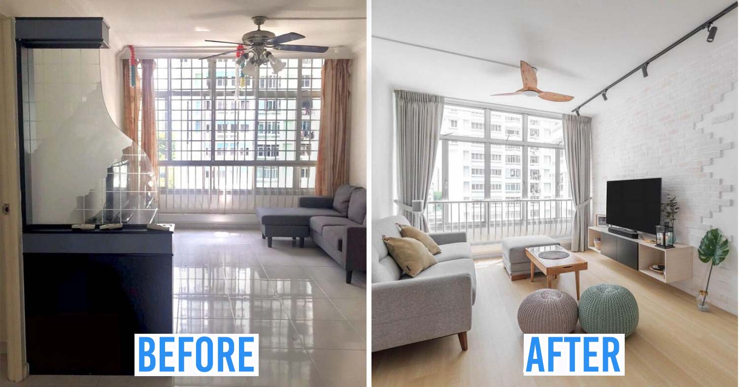 Hdb Renovation In Singapore How We Turned Our Old 4 Room Resale Flat To A Sleek Muji Style Home
