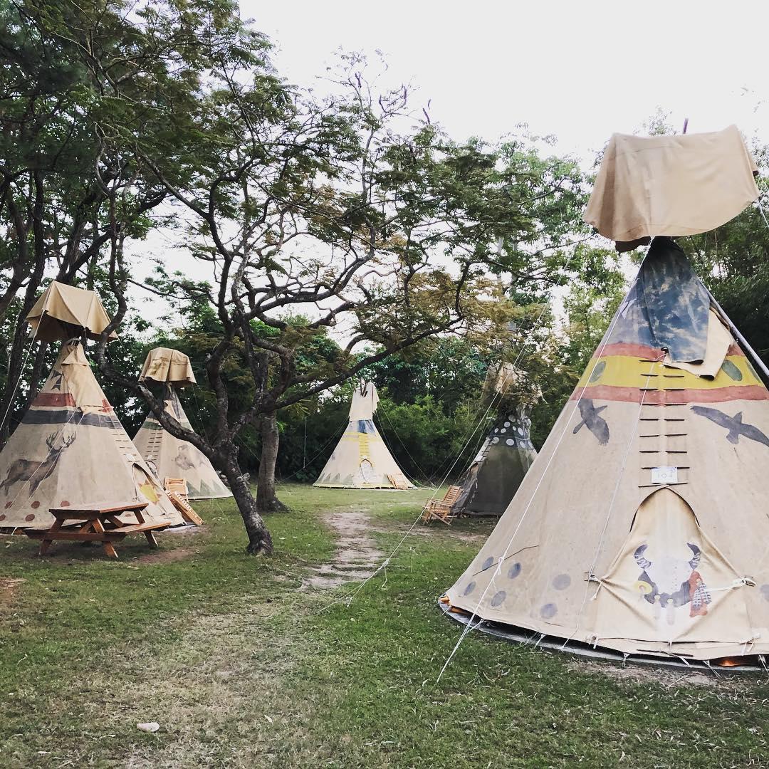 Sai Yuen Farm glamping domes teepee