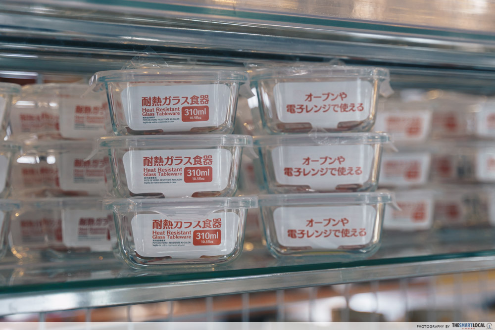 Glass lunch boxes Daiso Singapore