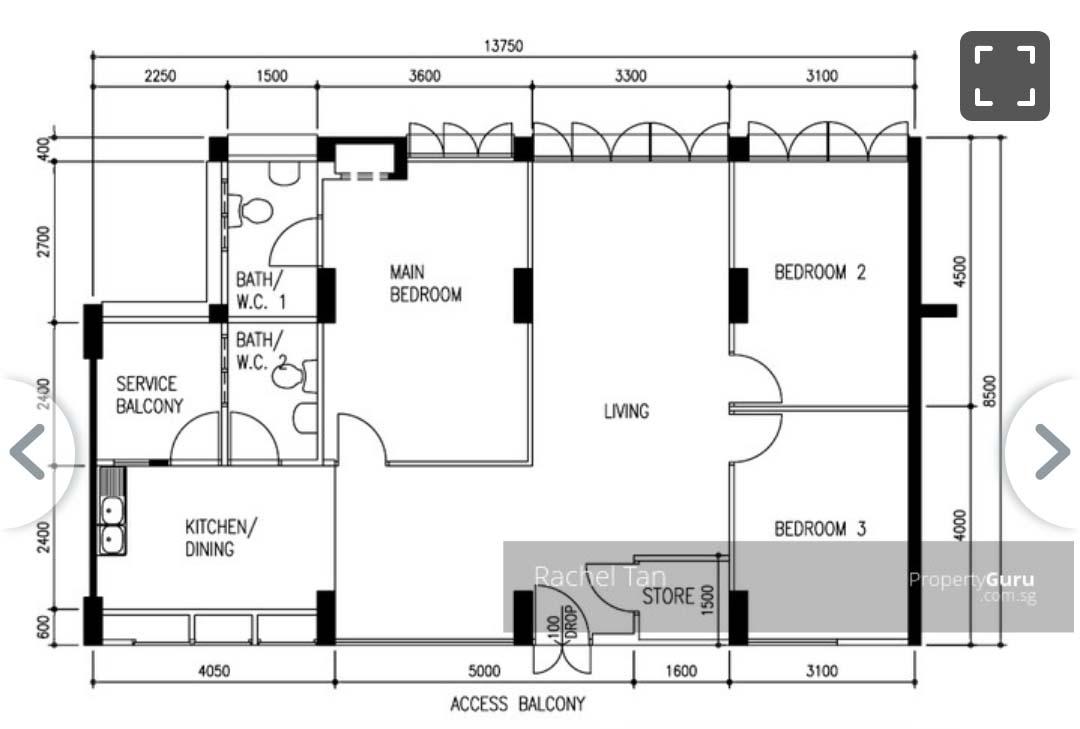 hdb floor plan 4 room toa payoh