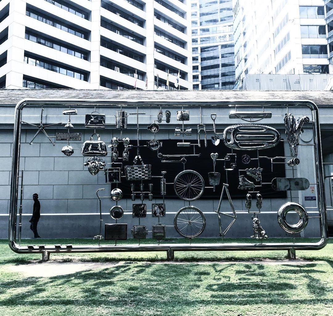 singapore art week 2020 - tan wee lit installation at raffles place park