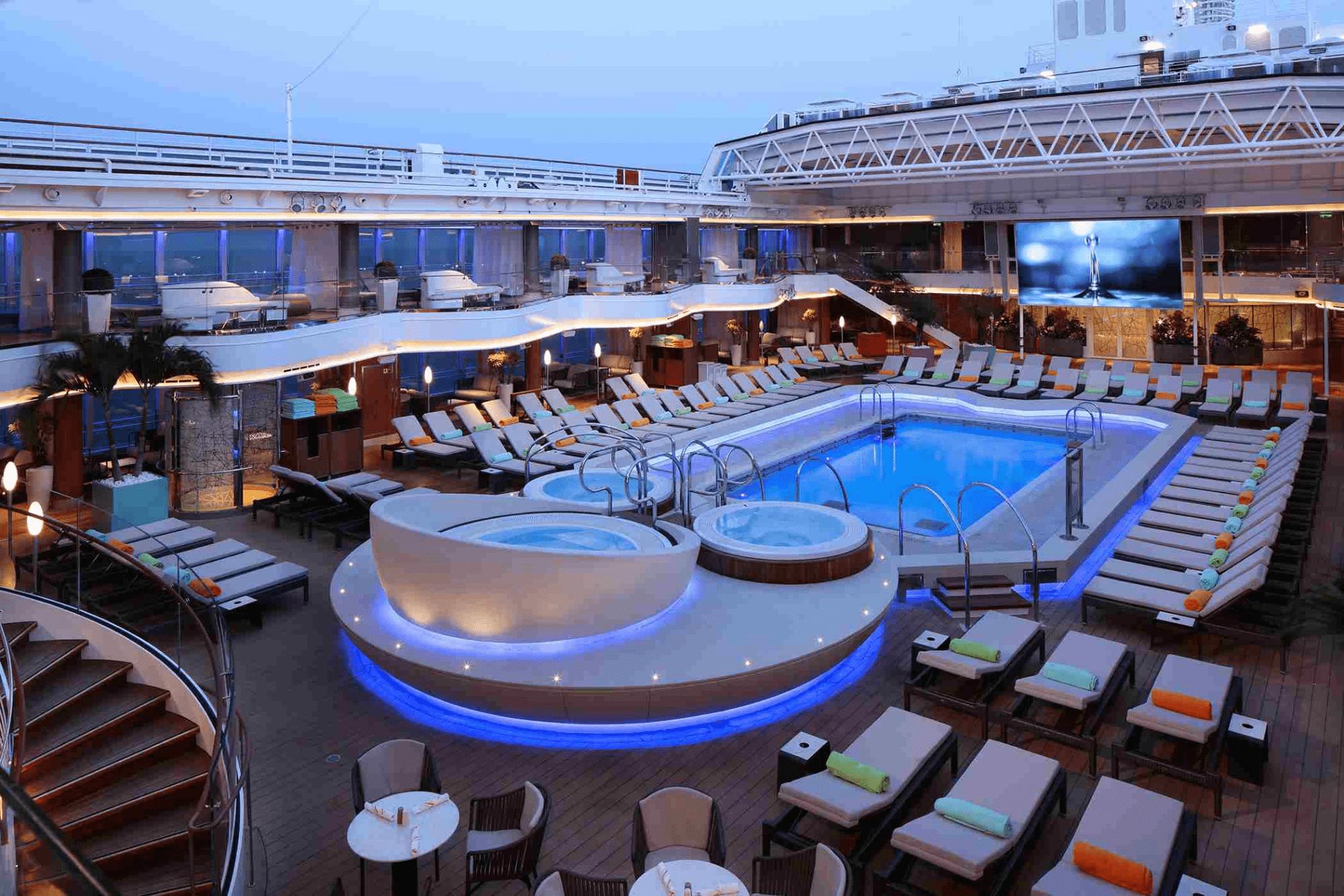 Holland America pool deck